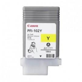 Tusz Canon PFI-102Y IPF500, 600, 700 żółty, 130ml